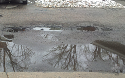 Image of drainage issue