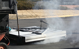 Image of machine that heats the asphalt during infrared patching