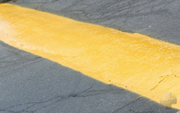 Image of speed bump in middle of road