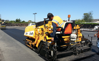 Image of machine performing asphalt overlay