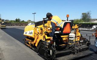 Image of machine performing asphalt overlay