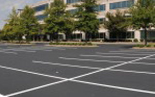 Image of well maintained parking lot